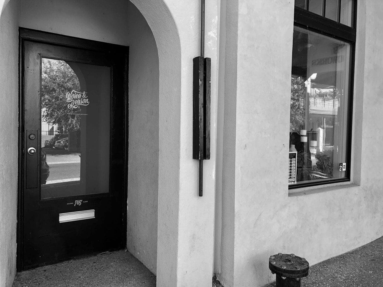 Voice & Reason Studio entrance