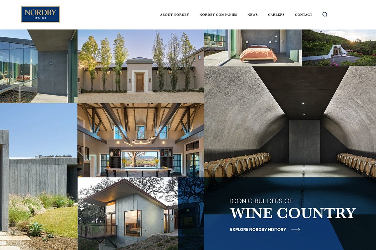 Nordby home page design