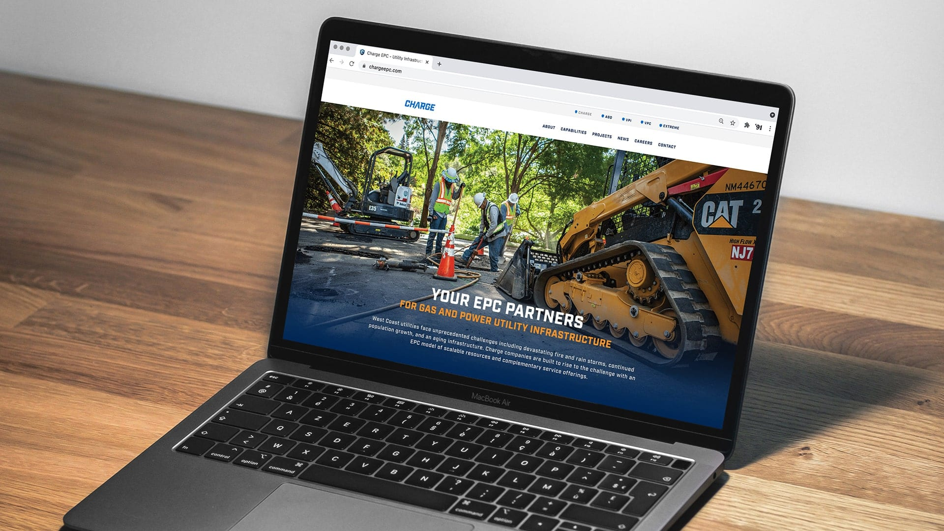Charge website design