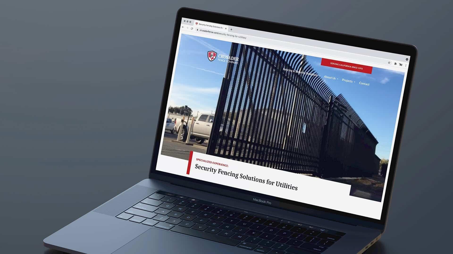 Crusader Fence Company homepage design