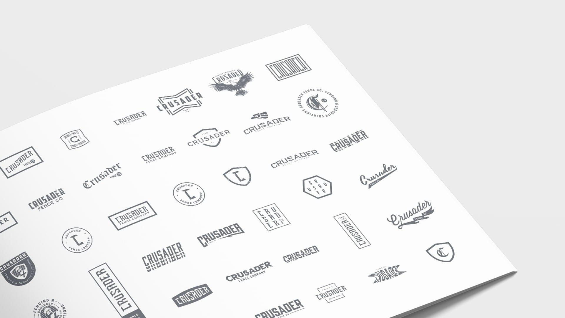 Crusader Fence Company logos