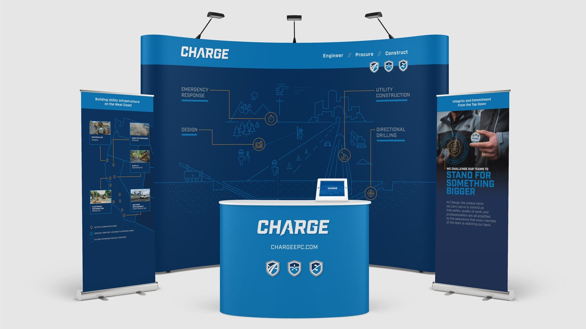 Charge event booth design